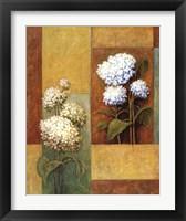Framed Blue & White Hydrangea