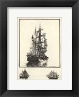 Framed Antique Ships I