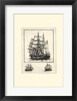 Framed Antique Ships II