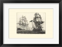 Framed Antique Ships III