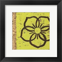 Framed Key Lime Rosette I