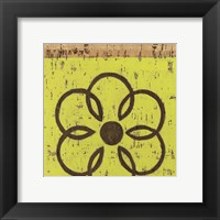 Framed Key Lime Rosette II