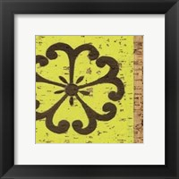 Framed Key Lime Rosette III