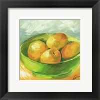 Framed Bowl of Fruit I