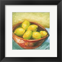 Framed Bowl of Fruit IV