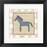Katherine's Zebra Framed Print