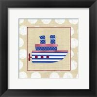EJ's Steamship Framed Print