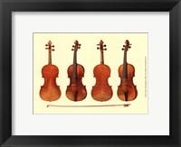 Framed Antique Violins I
