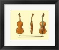 Framed Antique Violins II