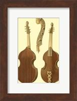 Framed Antique Violas I