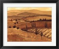 Framed Golden Tuscany Afternoon II