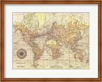 Framed World Map II