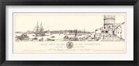 Framed Antique Seaport III