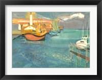 Framed Boats in Harbor I