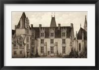Framed Sepia Chateaux I