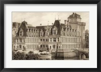 Framed Sepia Chateaux IV