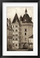 Framed Sepia Chateaux VI