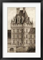 Framed Sepia Chateaux VIII