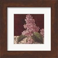 Framed Postcard Lilac