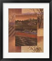 Framed Vineyard Sunset