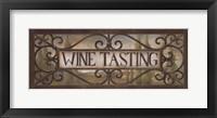 Framed Wine Tasting
