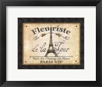 Fleuriste de la Tour Framed Print