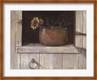 Framed Sunflower and Copper