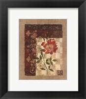 Framed Burlap Climbing Rose