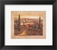 Framed Tuscan Sunset I