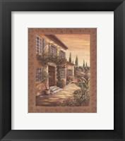 Provence Courtyard I Framed Print