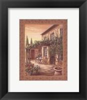 Framed Provence Courtyard II