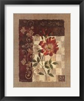 Framed Burlap Climbing Rose
