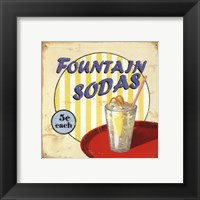 Framed Fountain Sodas
