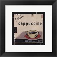 Framed Fresh Cappuccino
