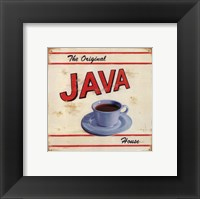 Framed Original Java House