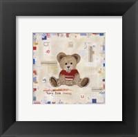 Framed Teddy Bear Cuddles