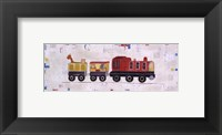 Framed Red Circus Train