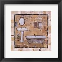 Framed Vintage Bath Time I