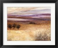 Framed Heather Landscape I