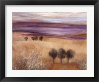 Framed Heather Landscape II