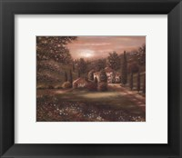 Evening in Tuscany II Framed Print