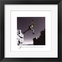 Framed Inspirational - Leap