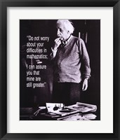 Framed Einstein - Do Not Worry