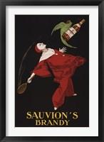 Framed Sauvion's Brandy
