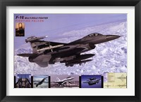 Framed Airplane Fighting Falcon F-16