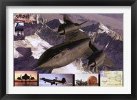 Framed Airplane Blackbird Sr-71