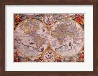 Framed Map - Orbis Terrarum