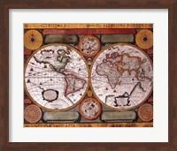 Framed Map - Terre Universelle