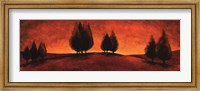 Framed Vermillion Pastoral 1
