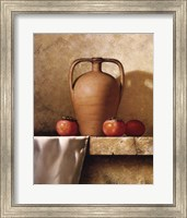 Framed Olive Oil Jug with Persimmons